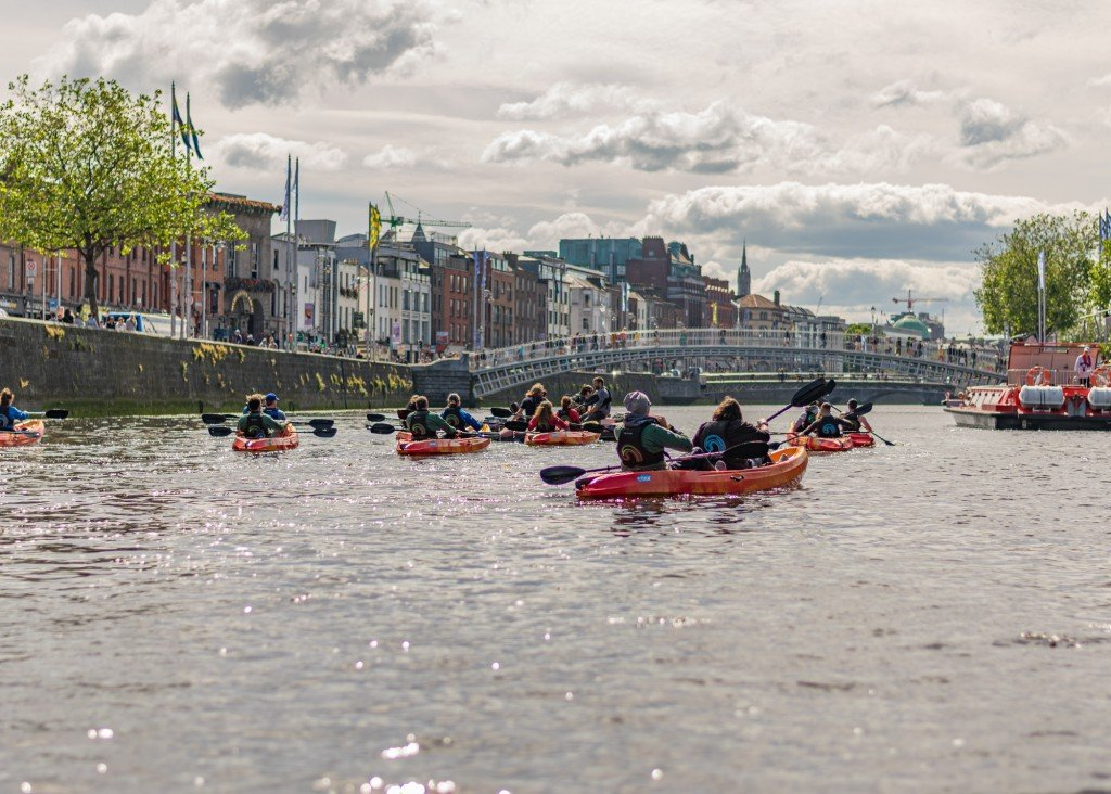 Image for PRIVATE Dublin by kayak 2 hours Liffey experience (up to 10 pax)